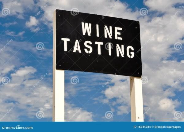 Wine Tasting Sign Stock - 16344784