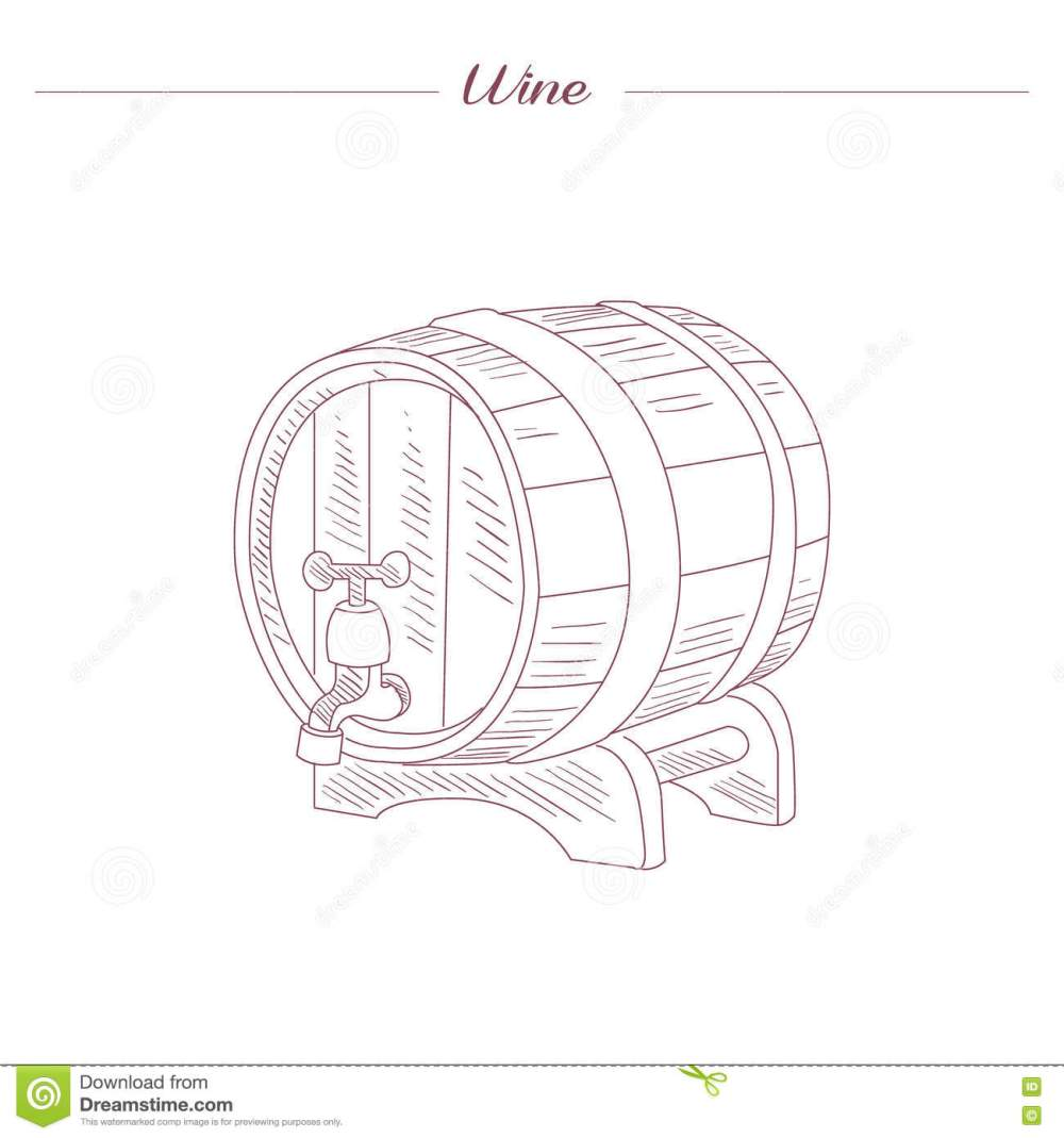 medium resolution of wine tun hand drawn realistic detailed sketch in beautiful classy style on white background