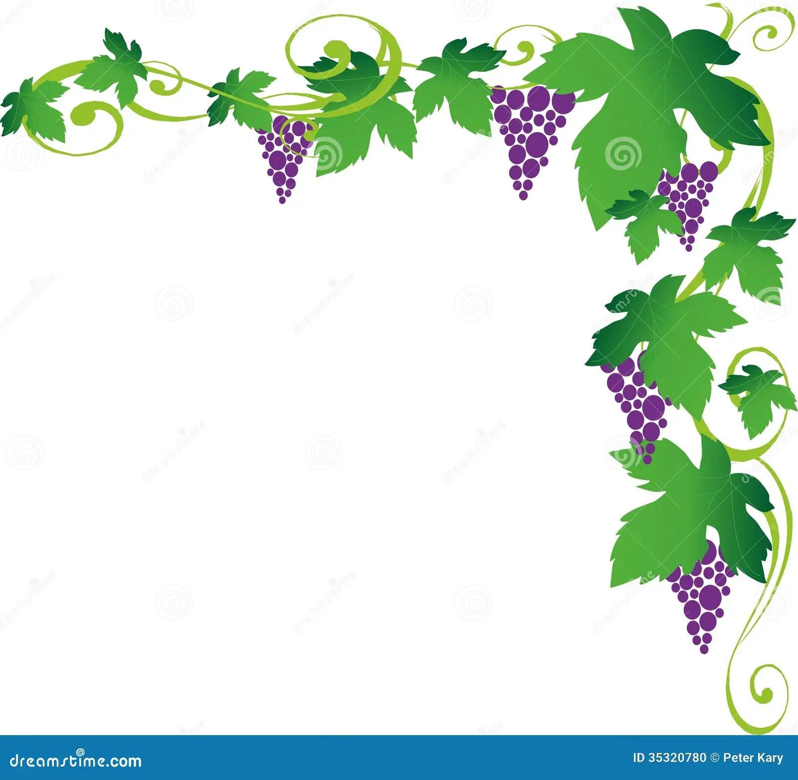 Art Vineyard Clip Border