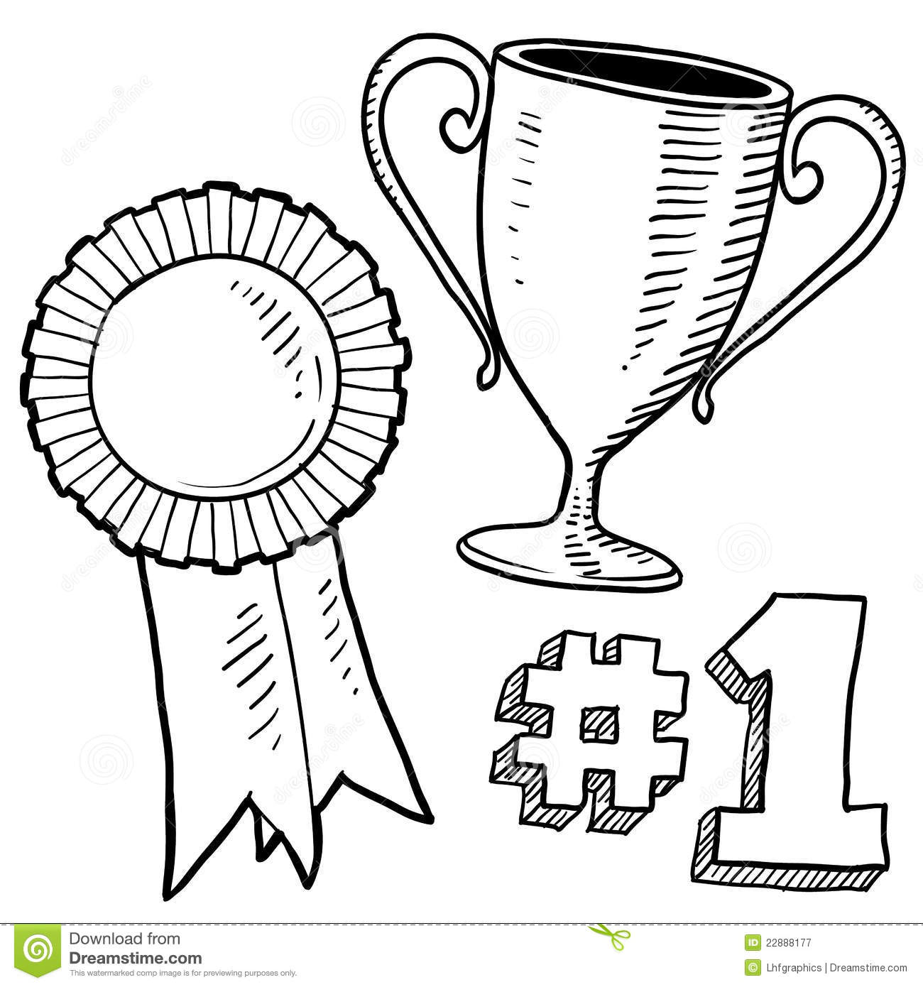 Winner Or Awards Sketch Royalty Free Stock Photography