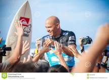 Winner Surfer Kelly Slater Pipeline In Hawaii Editorial