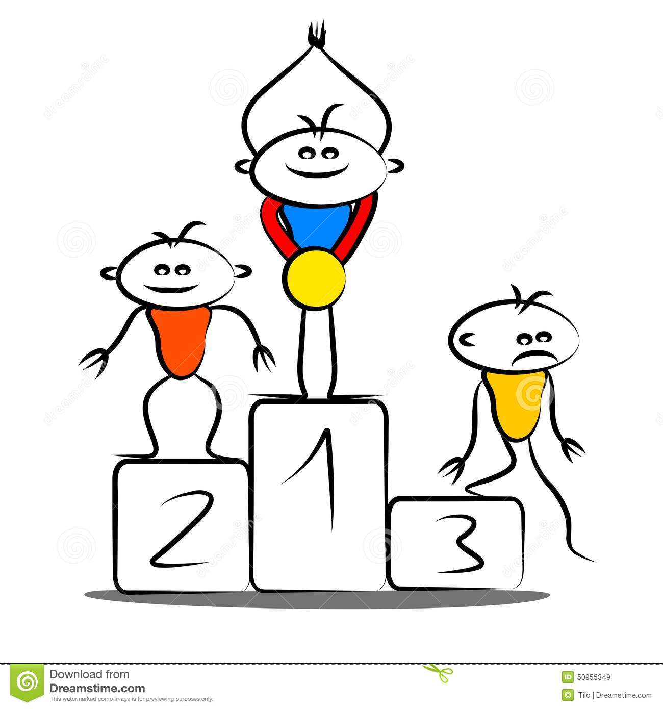 Winning Podium Stock Illustration