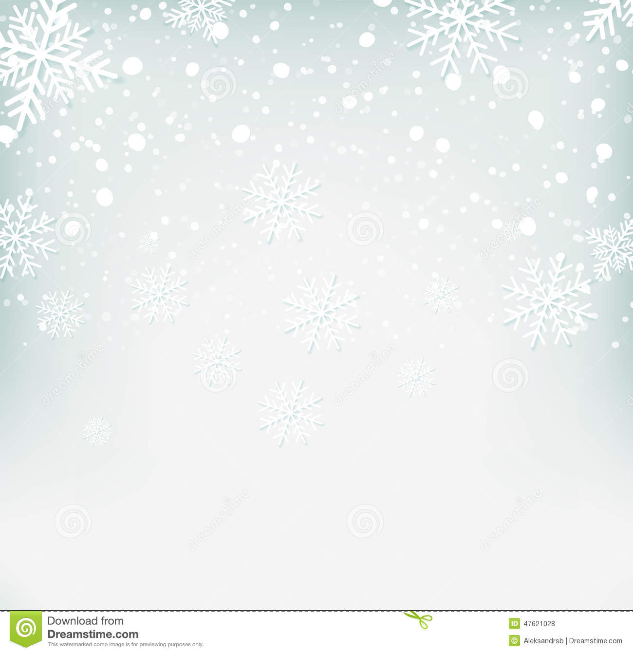 Christmas Wallpaper Snow Falling Winter Background With Snowflakes Stock Vector