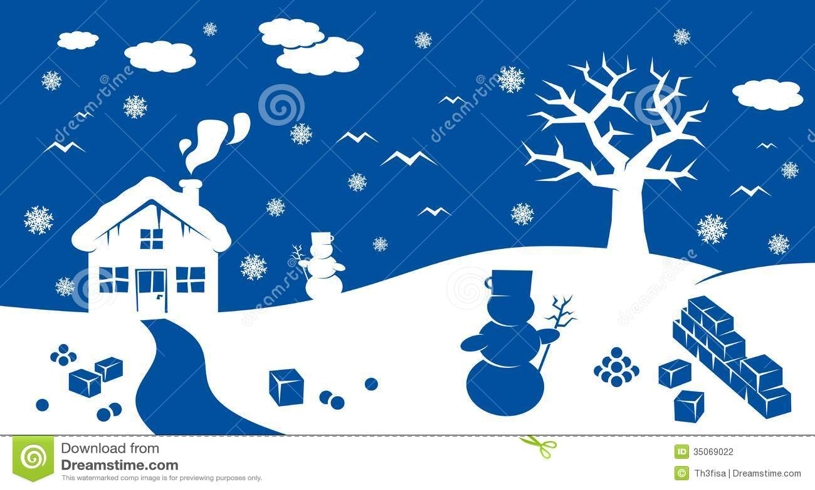 Cute Doodle Wallpaper Hd Winter Cartoon