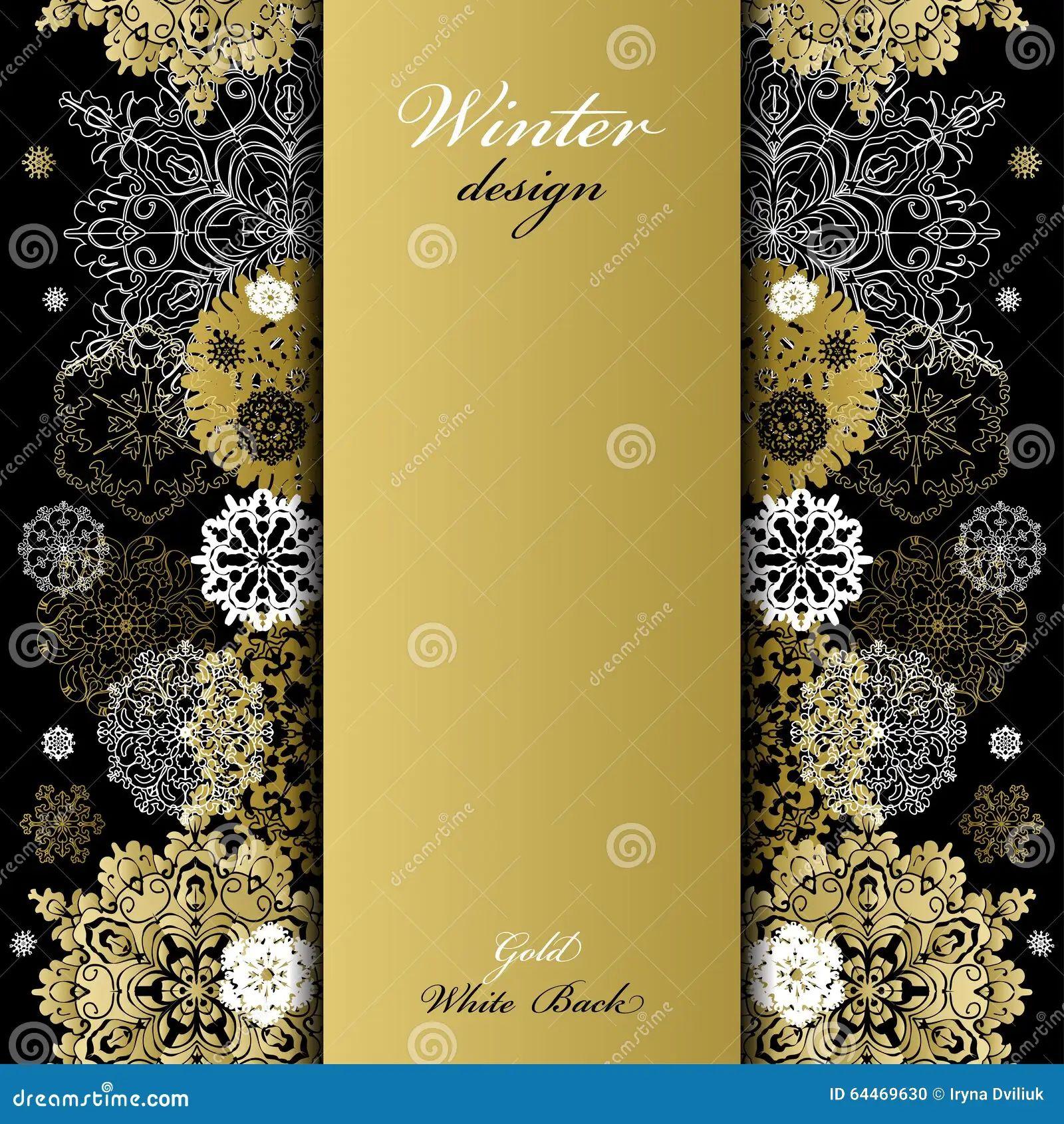 winter snowflakes frame stock vector illustration of white