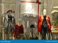 Winter Fashion Mannequins In Fashion Shop Window Stock ...