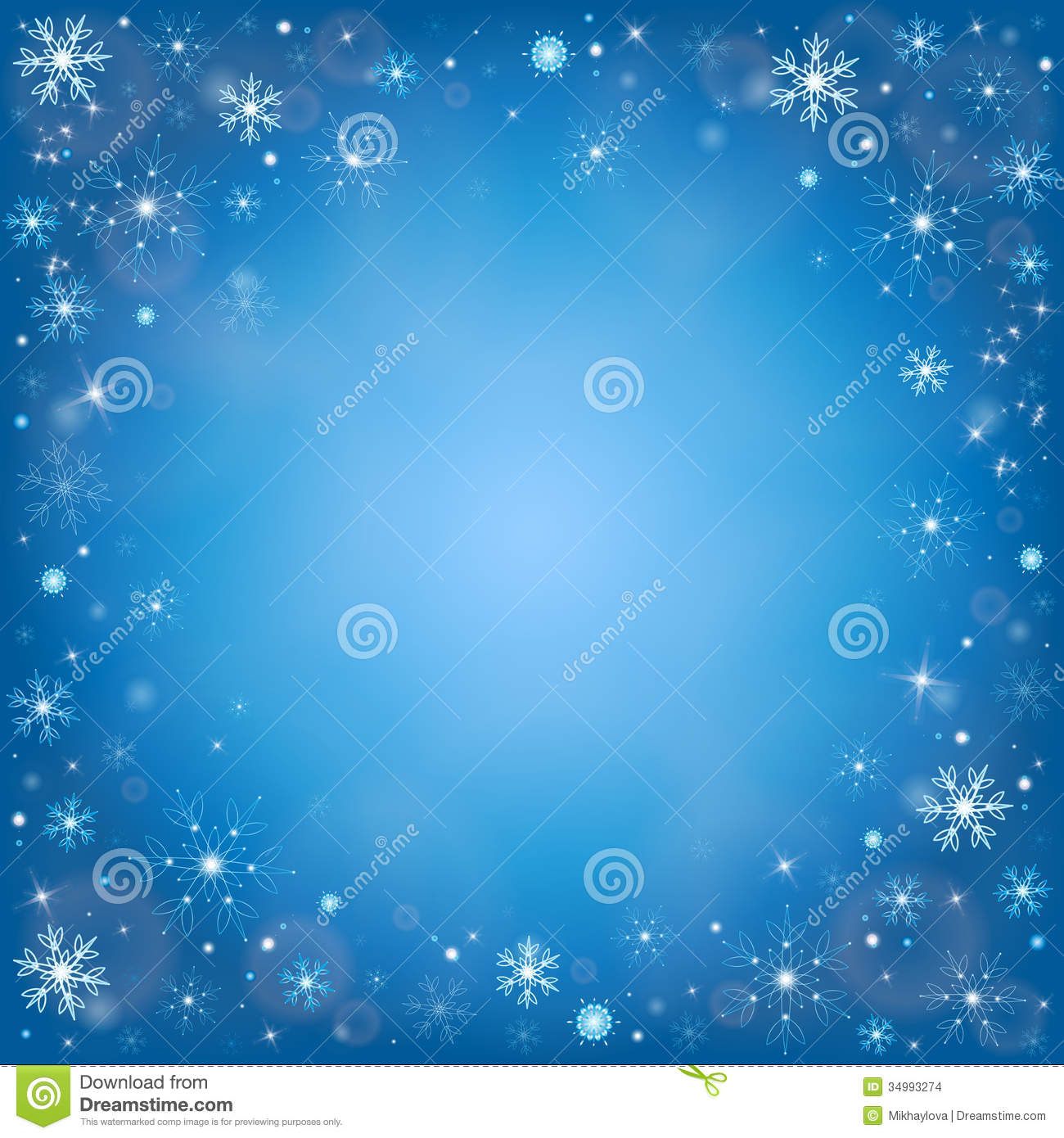 winter snowflakes background vector stock vector