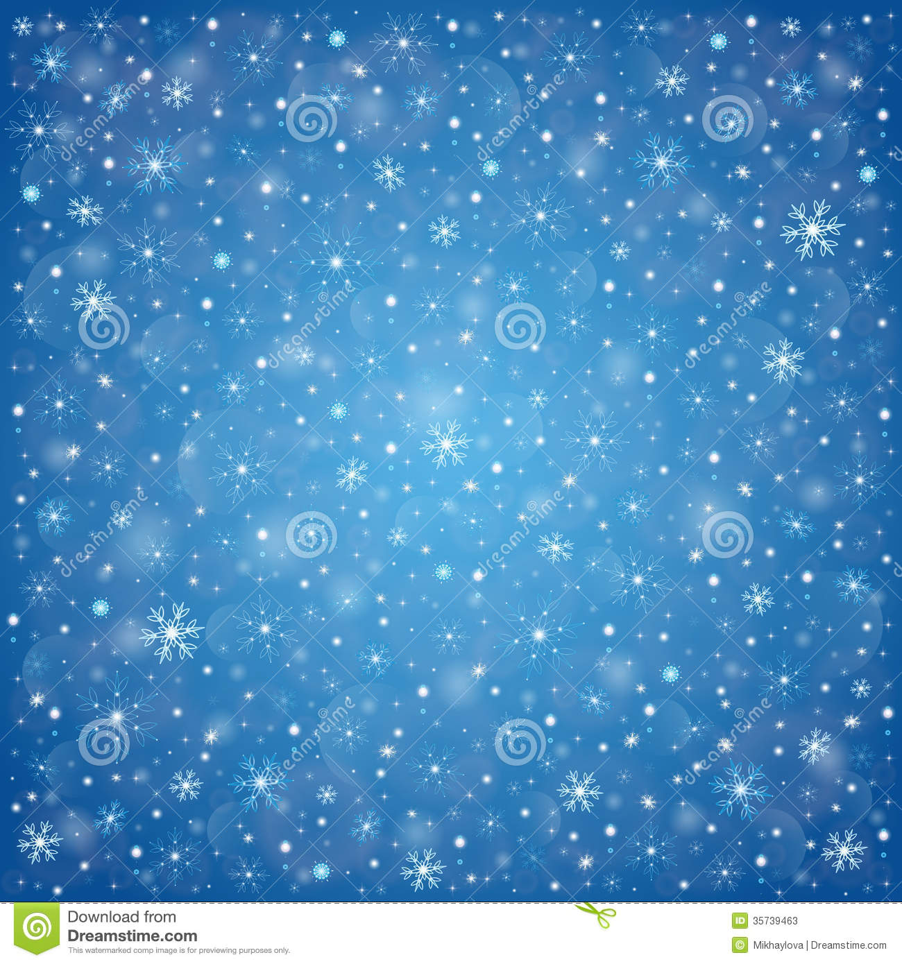 Christmas Snow Falling Wallpaper Winter Frosty Snow Background Stock Vector Illustration