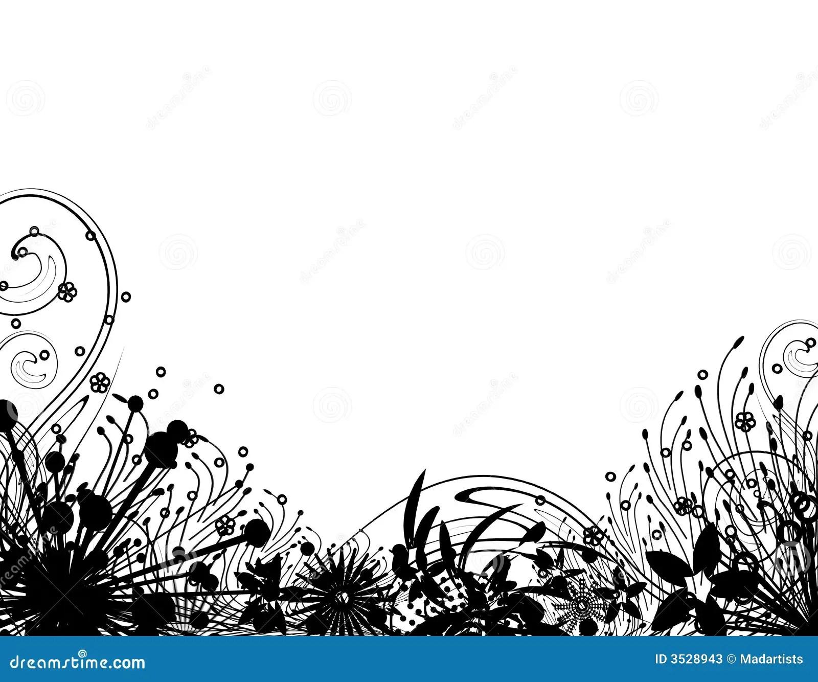 Winter Garden Silhouette 2 Stock Illustration