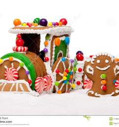 winter holiday gingerbread polar express train royalty free stock  [ 1300 x 975 Pixel ]