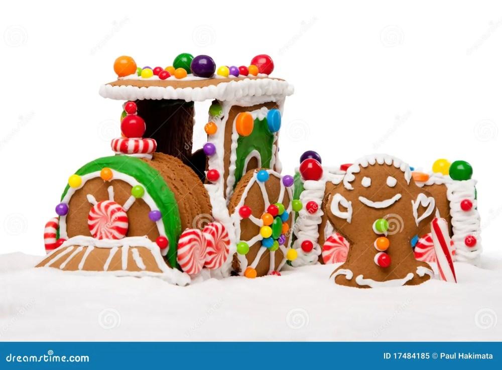medium resolution of winter holiday gingerbread polar express train royalty free stock