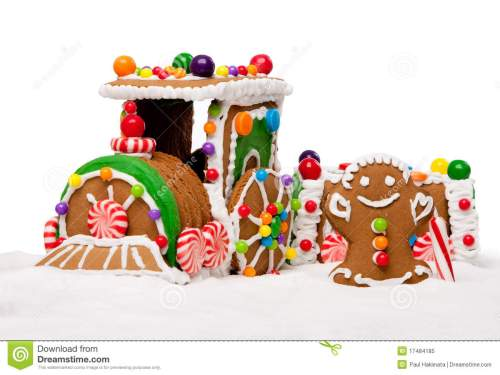 small resolution of winter holiday gingerbread polar express train royalty free stock
