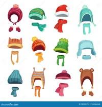 Winter Kids Hat. Warm Childrens Hats And Scarves. Headwear ...