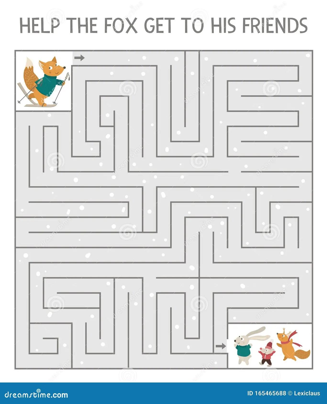 Winter Maze For Children Preschool Christmas Activity