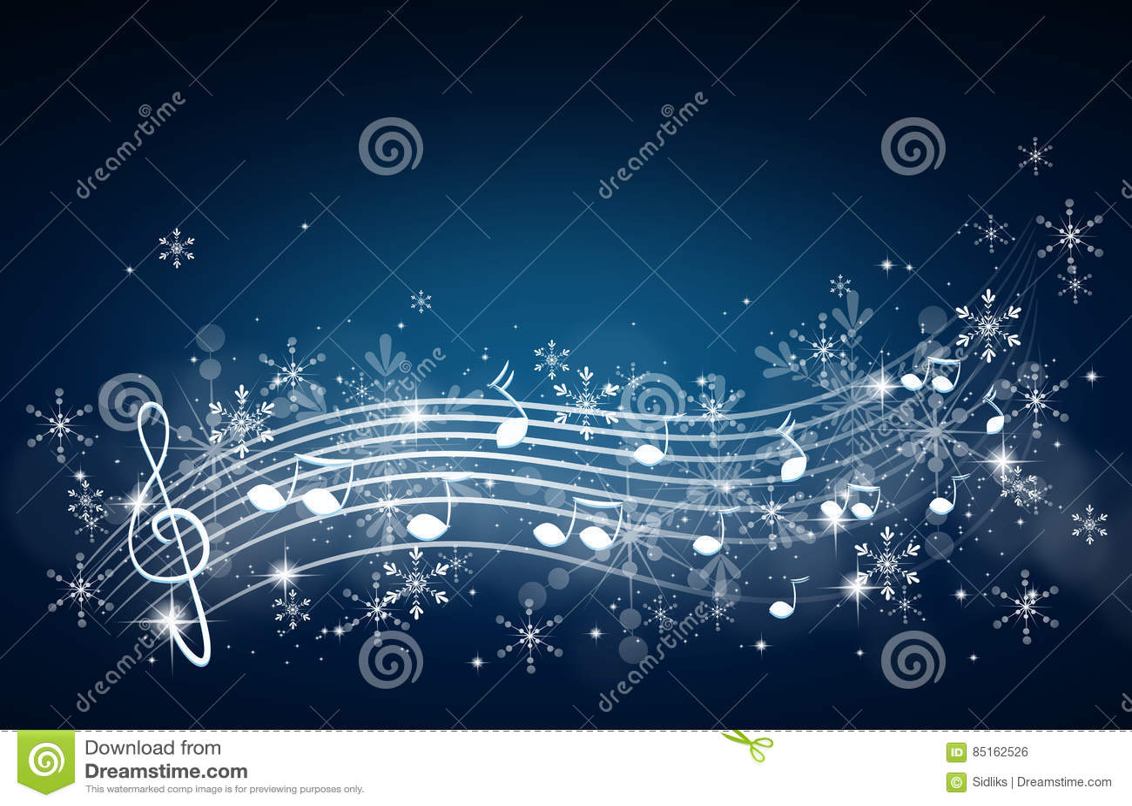 Winter Music Background Stock Illustration Illustration