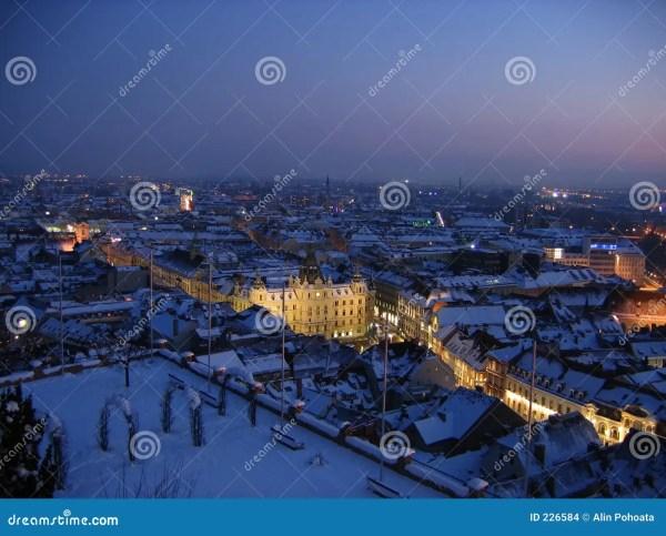 Winter Night In Graz Stock - 226584