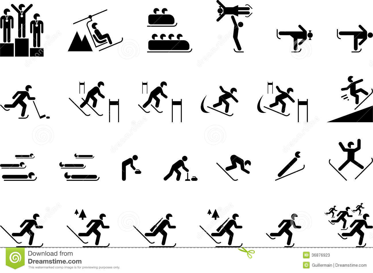 Winter Olympic Sports Stock Vector Illustration Of