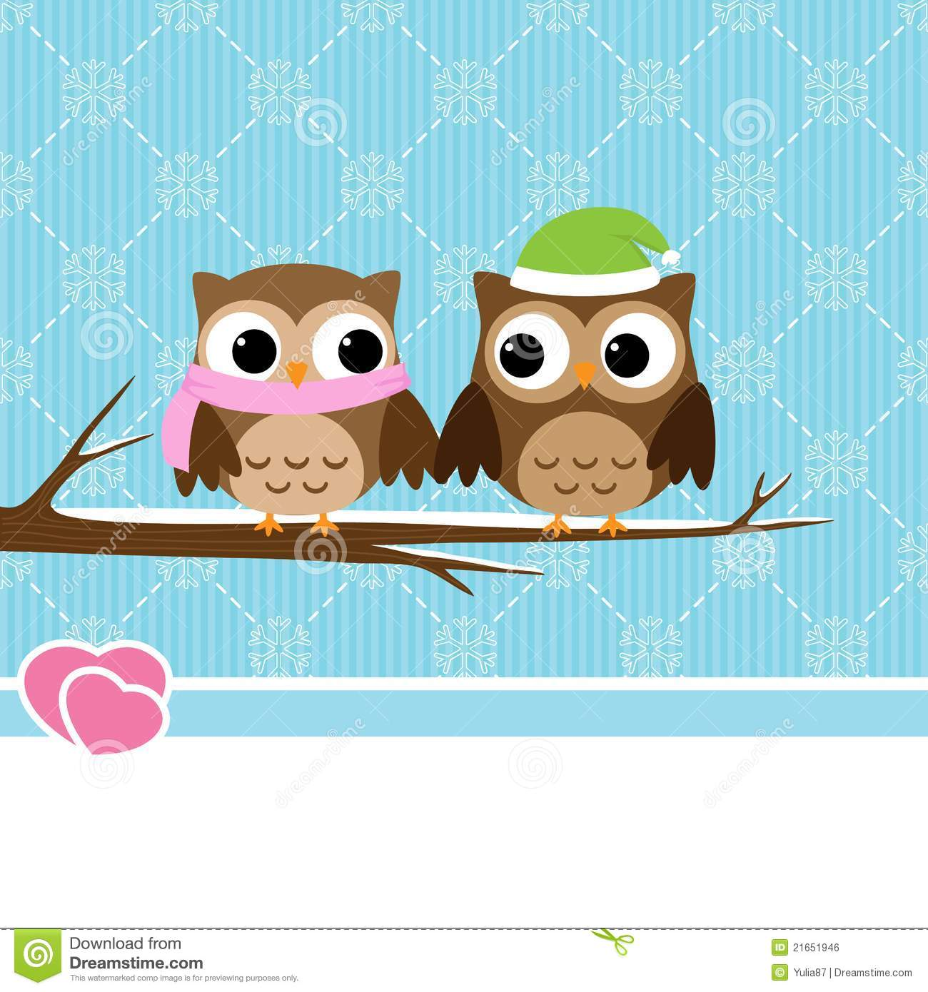 Cute Pink Owl Wallpaper Winter Owl Couple Stock Vector Image Of Paper Cartoon