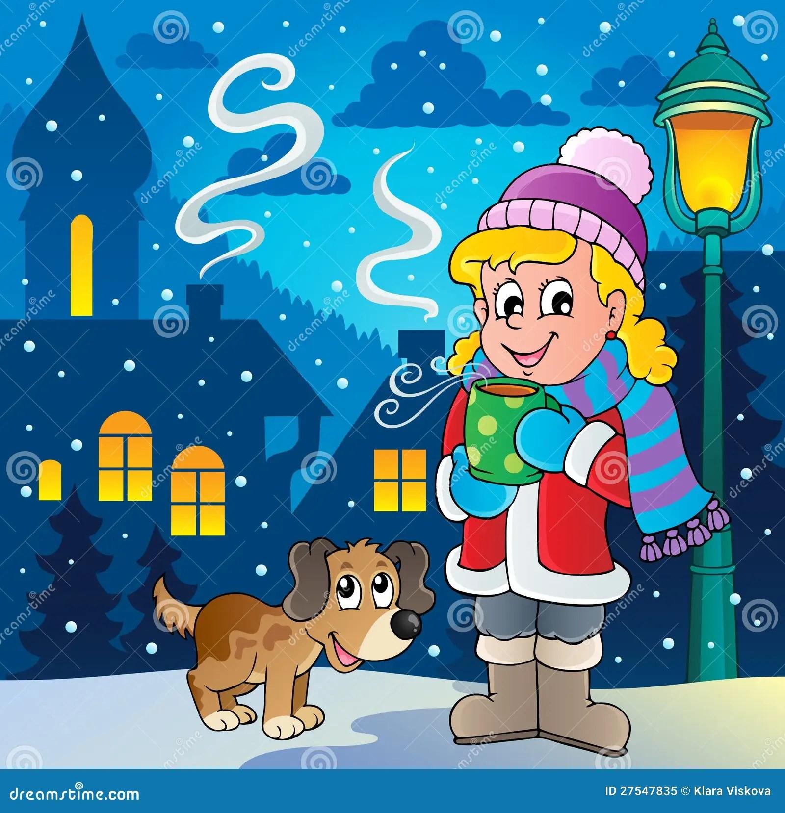 Winter Person Cartoon Image 2 Stock Vector Image 27547835