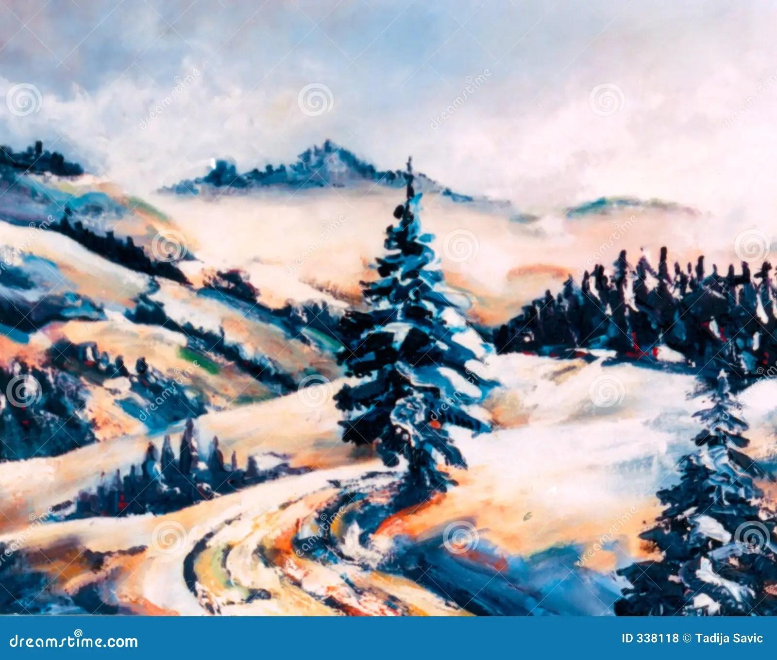 Winter Scene Royalty Free Stock Photos Image 338118