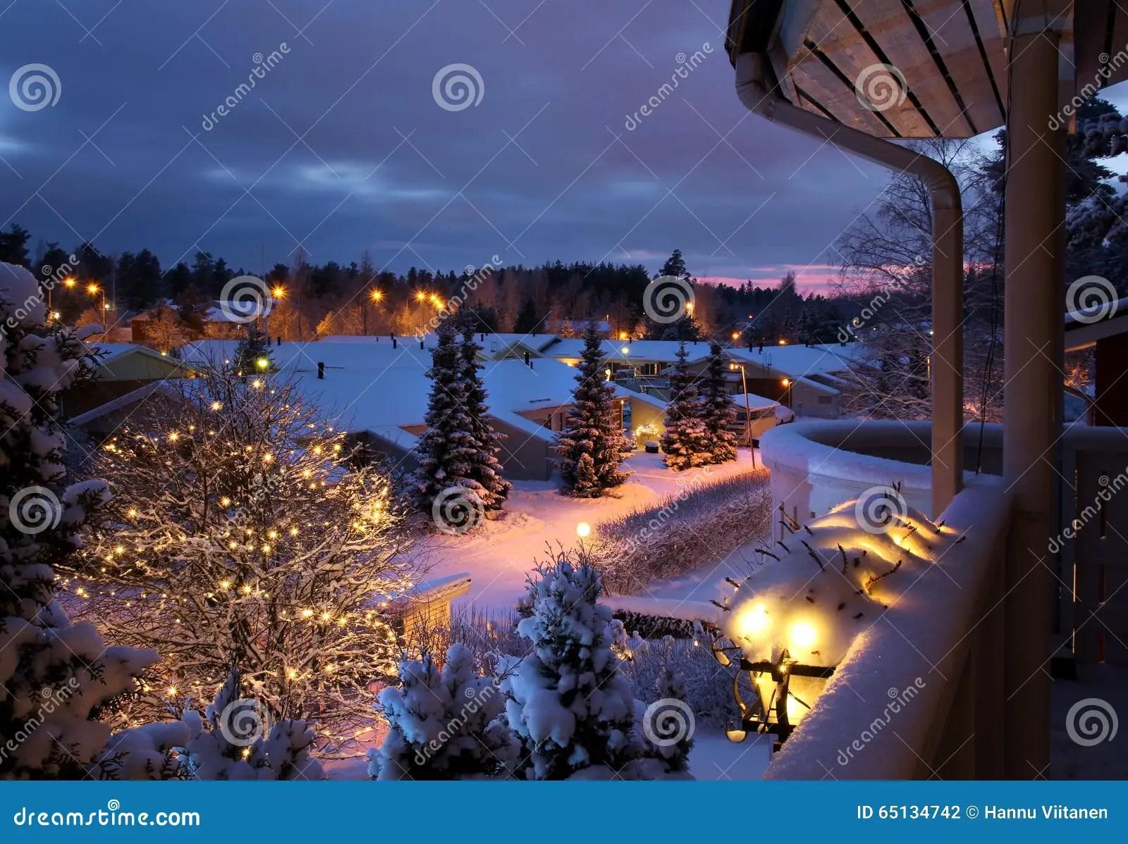 winter street snowy christmas