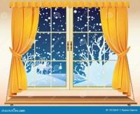 Winter View Through A Window Stock Vector - Image: 12132641