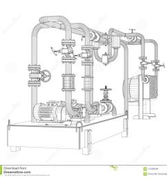 wire frame industrial equipment of oil pump [ 1300 x 1232 Pixel ]