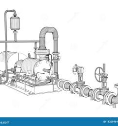 wire frame industrial pump [ 1300 x 1077 Pixel ]