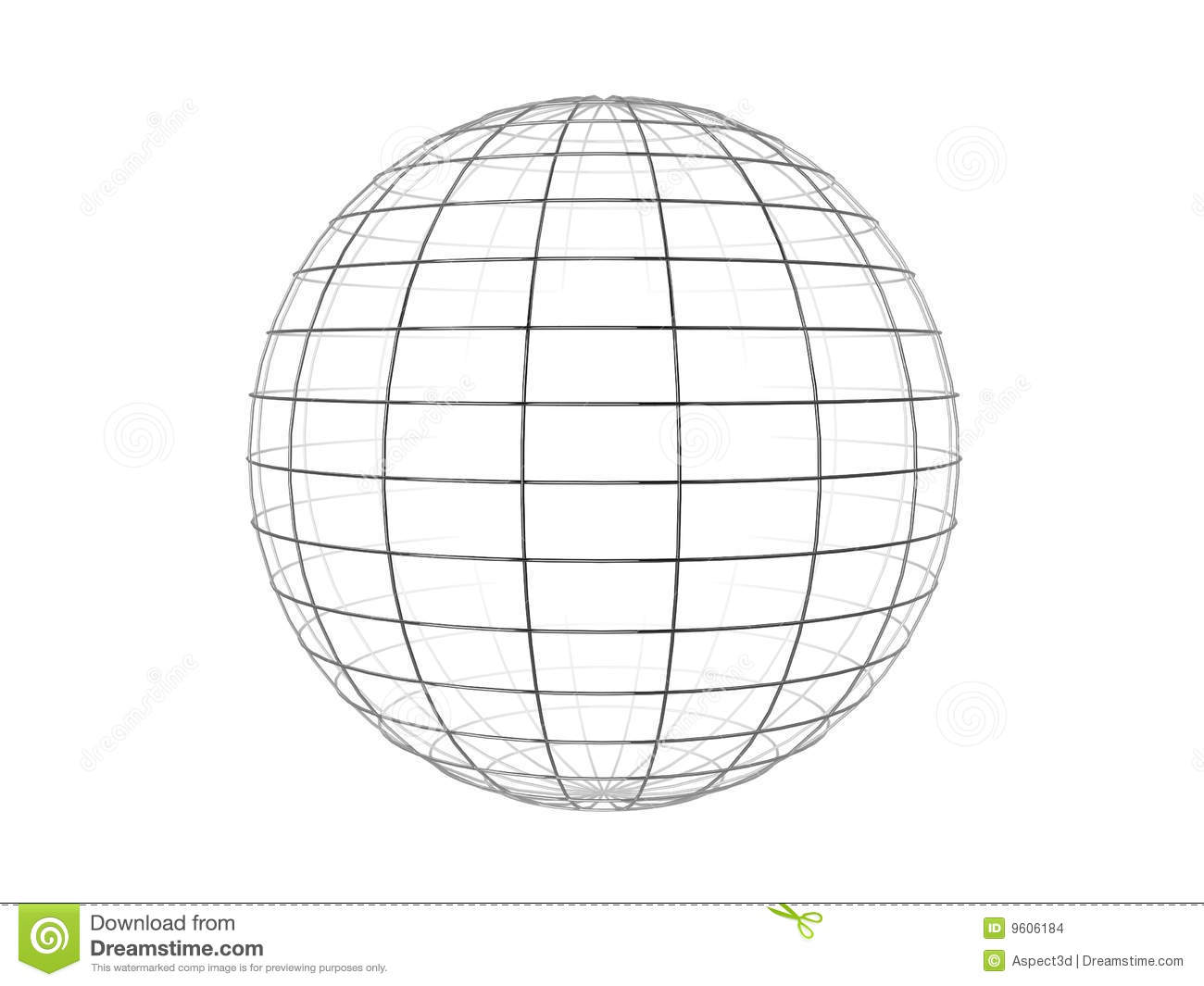 wire frame sphere stock