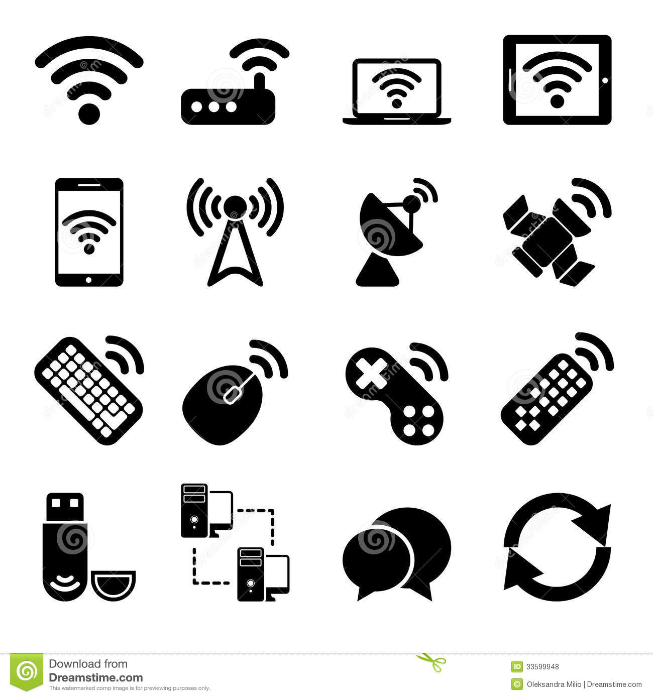 Wireless Devices Icons Set Royalty Free Stock Photos