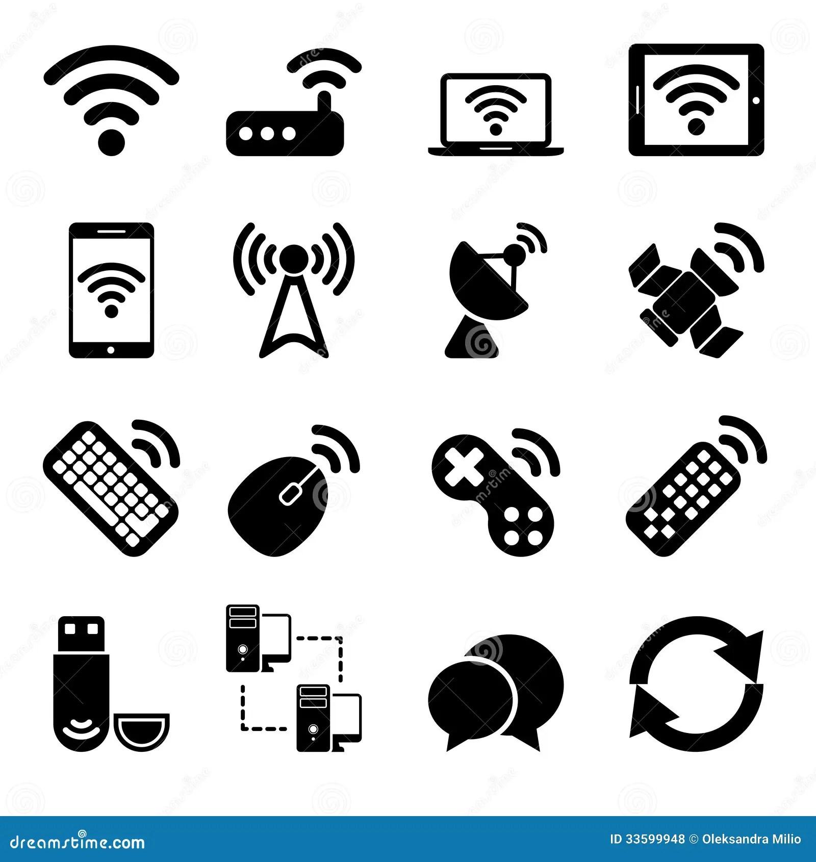 Wireless Devices Icons Set Royalty Free Stock Photos