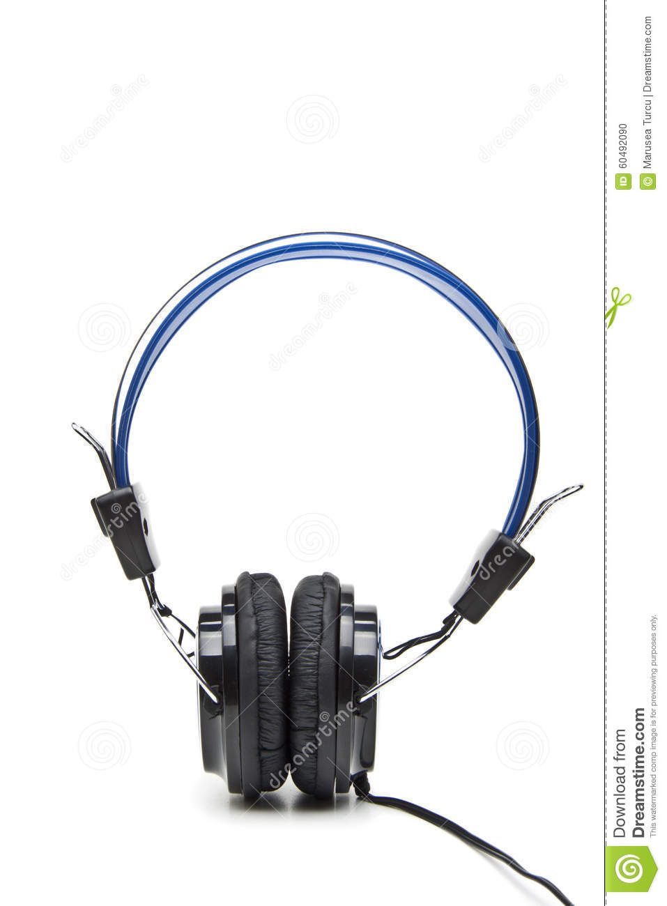 Plastic Wireless Headphones Royalty-Free Stock Photo