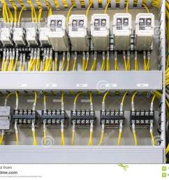 electrical panel at a assembly line factory electricity distribution box wires in electrical cabinet [ 1300 x 980 Pixel ]