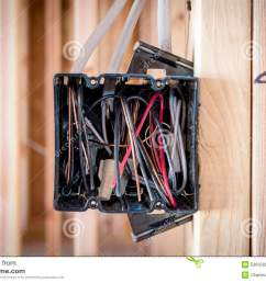 wires exposed in an electrical box electrical box in on a construction stie royalty free [ 1300 x 958 Pixel ]