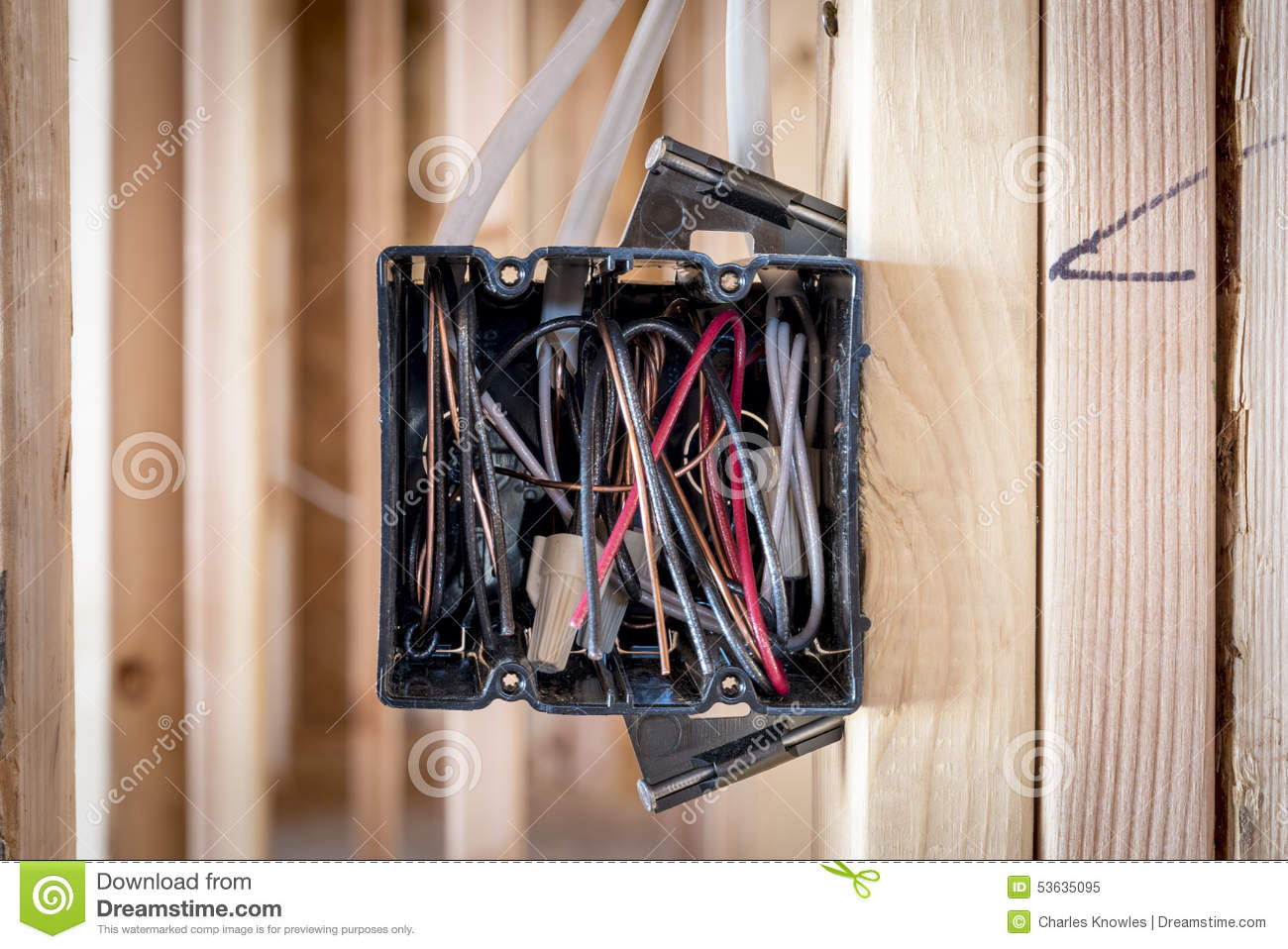 hight resolution of wires exposed in an electrical box electrical box in on a construction stie royalty free