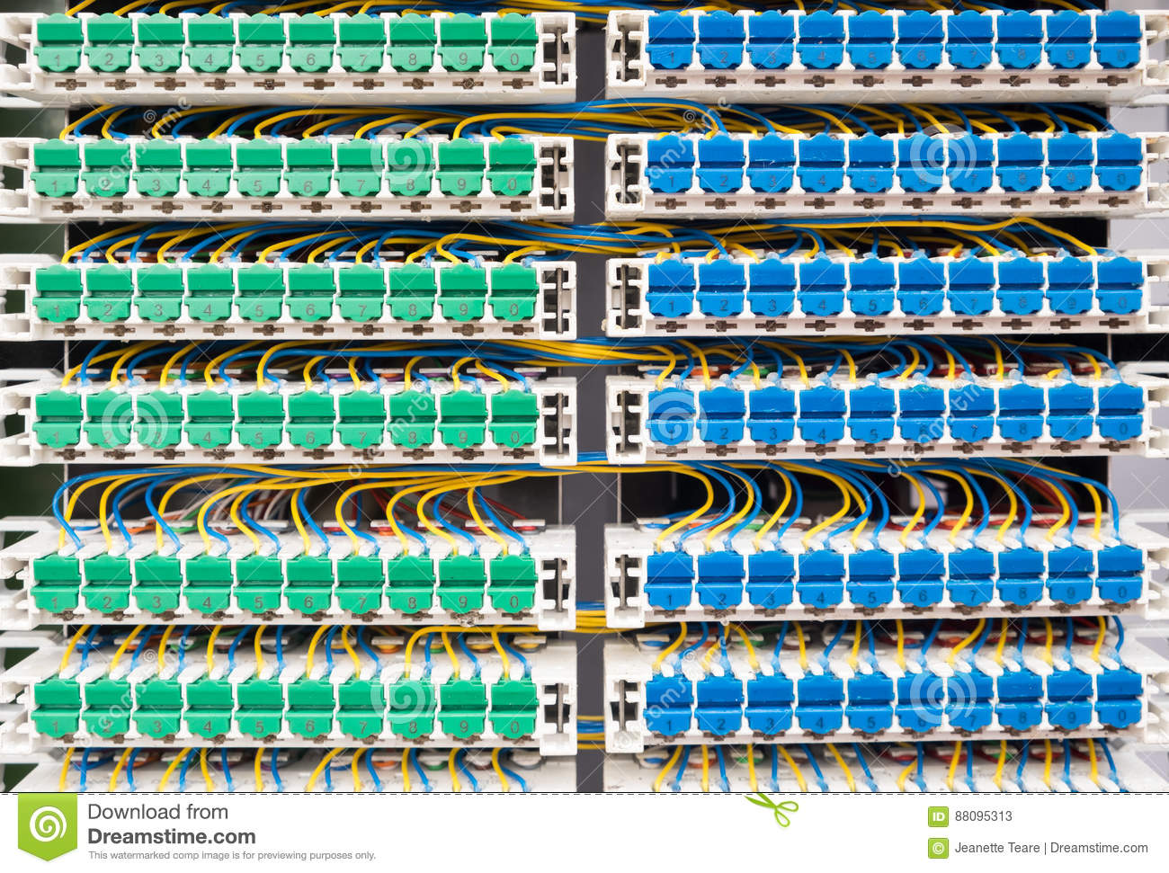 hight resolution of broadband landline routing equipment color coded neat wiring
