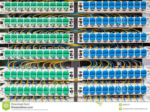 small resolution of broadband landline routing equipment color coded neat wiring