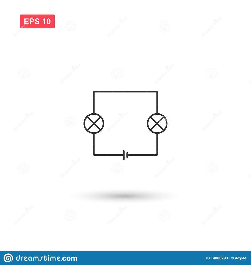 medium resolution of wiring diagram electronic circuit vector
