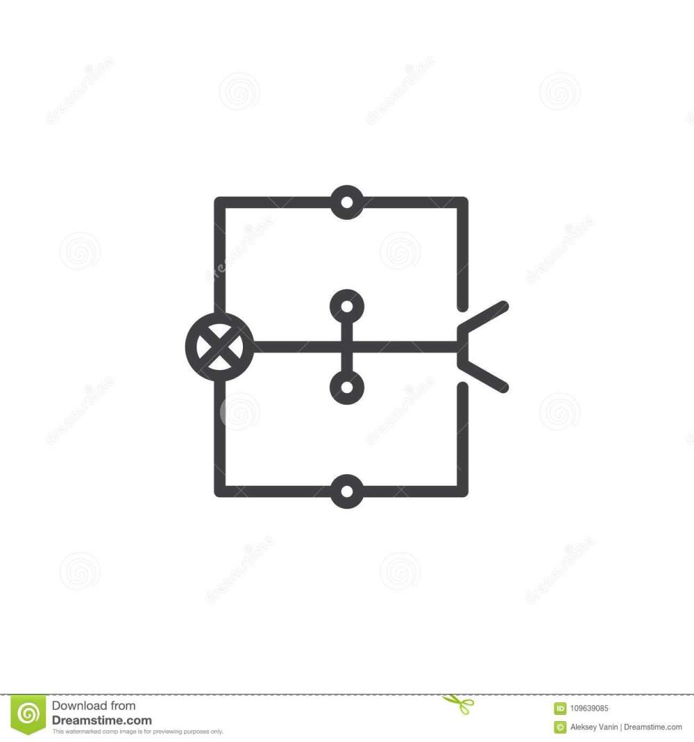medium resolution of wiring diagram line icon stock vector illustration of electricitywiring schematic icons 14