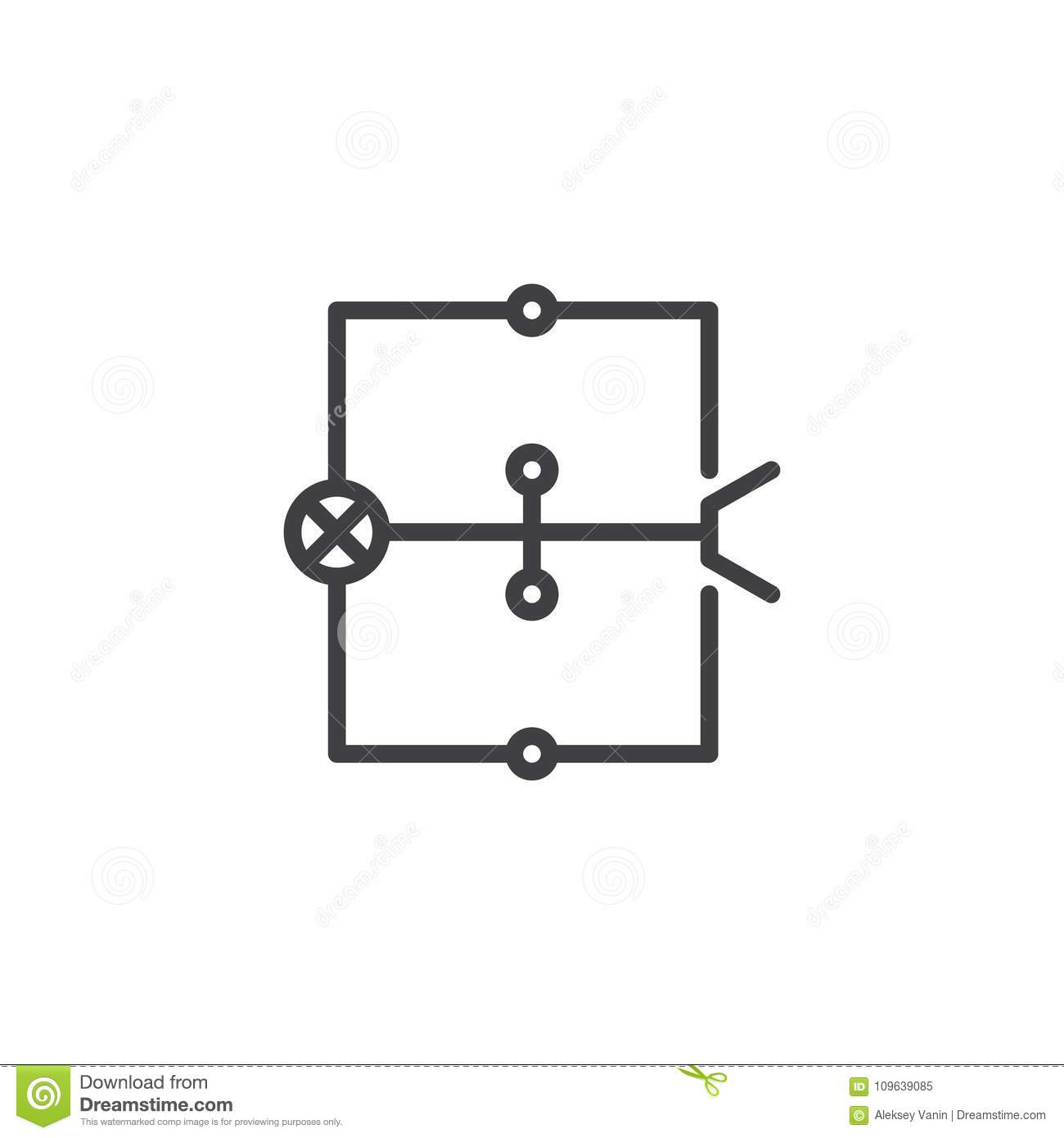 hight resolution of wiring diagram line icon