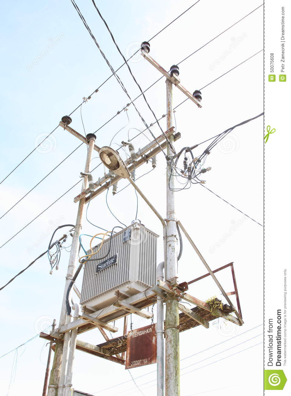 hight resolution of wiring with transformer station