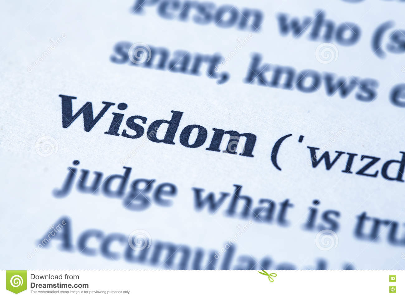 Wisdom word concept. stock image. Image of definition - 81410415