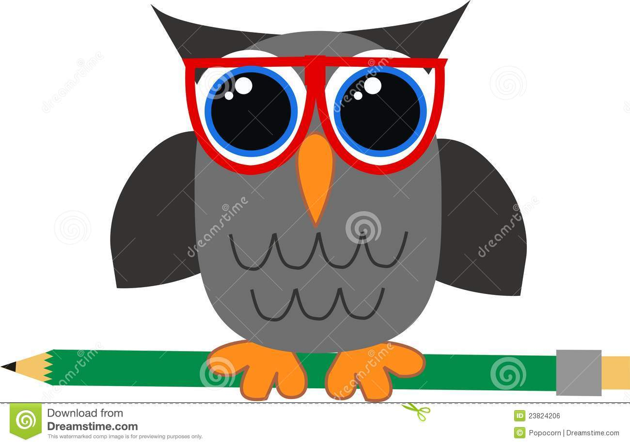 A Wise Owl Stock Vector Illustration Of Elements