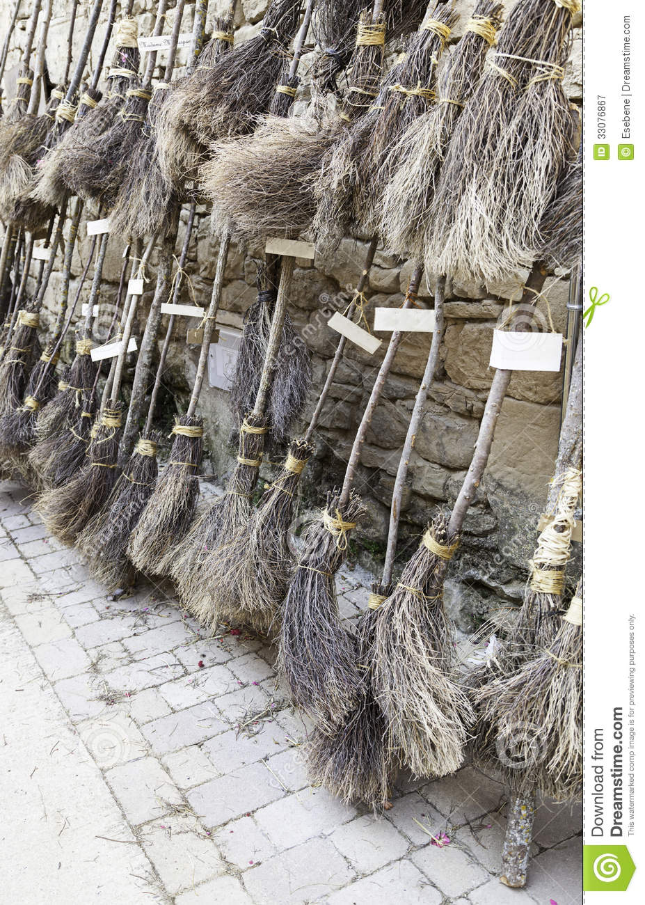 Witches Brooms Parking Royalty Free Stock Photography  Image 33076867