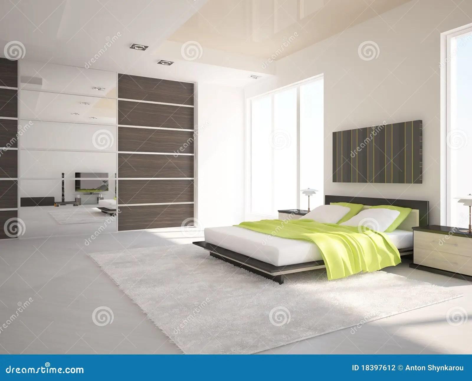 Witte slaapkamer stock illustratie Illustratie bestaande