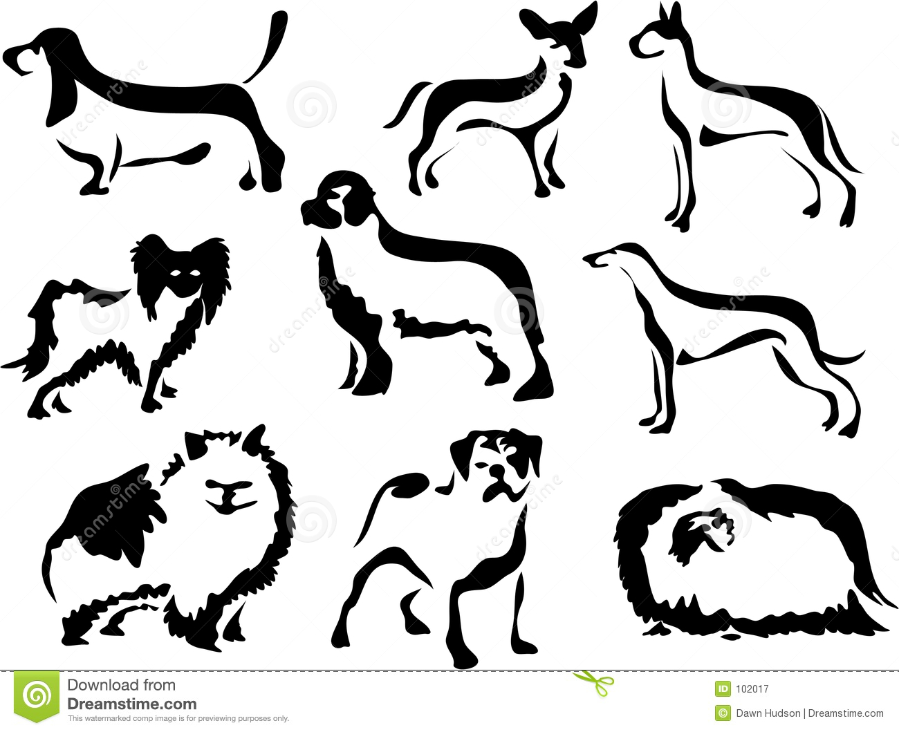 Wobbly Brush Dogs Stock Illustration Image Of Pedigree