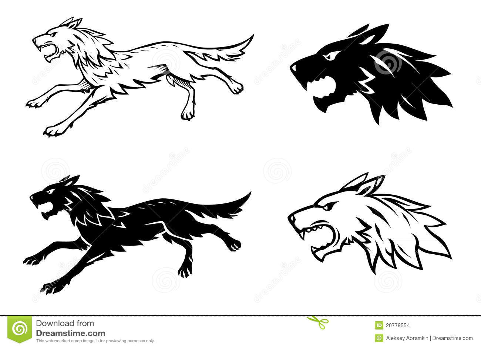 Wolf Illustration Stock Images