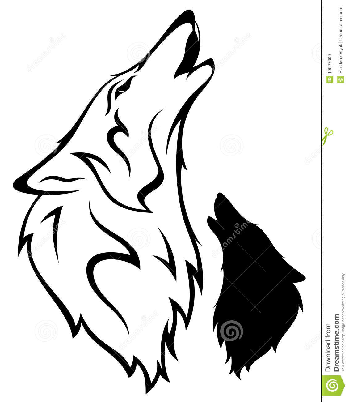 Wolf Vector Stock Vector Illustration Of Element Mascot