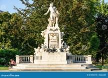 Wolfgang Amadeus Mozart Statue In Vienna Editorial