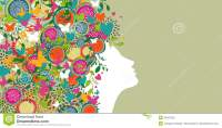 Woman Abstract Hair Design Banner Stock Vector ...